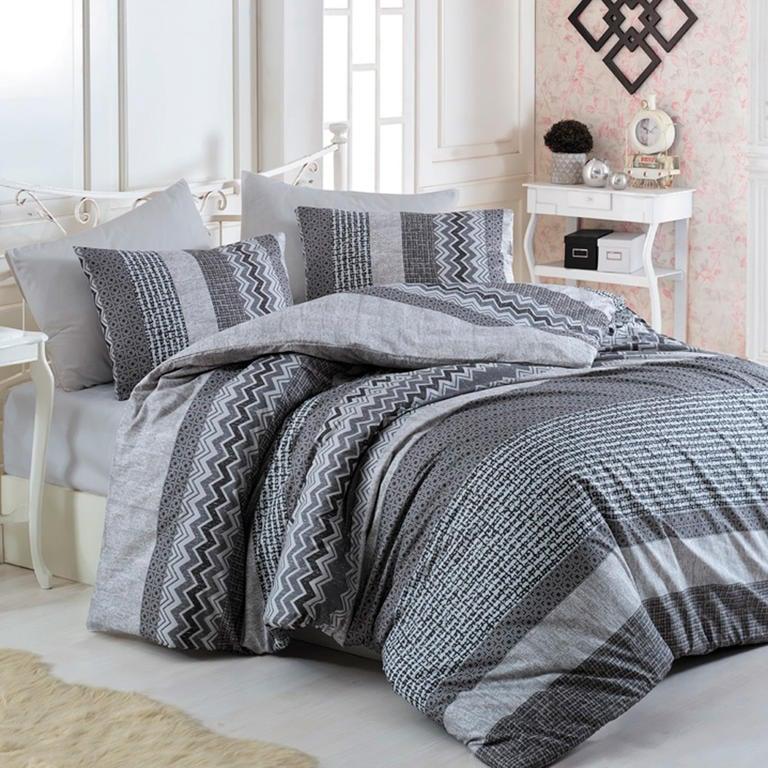 Tip Trade TipTrade bavlna povlečení Global šedé 140x200 70x90
