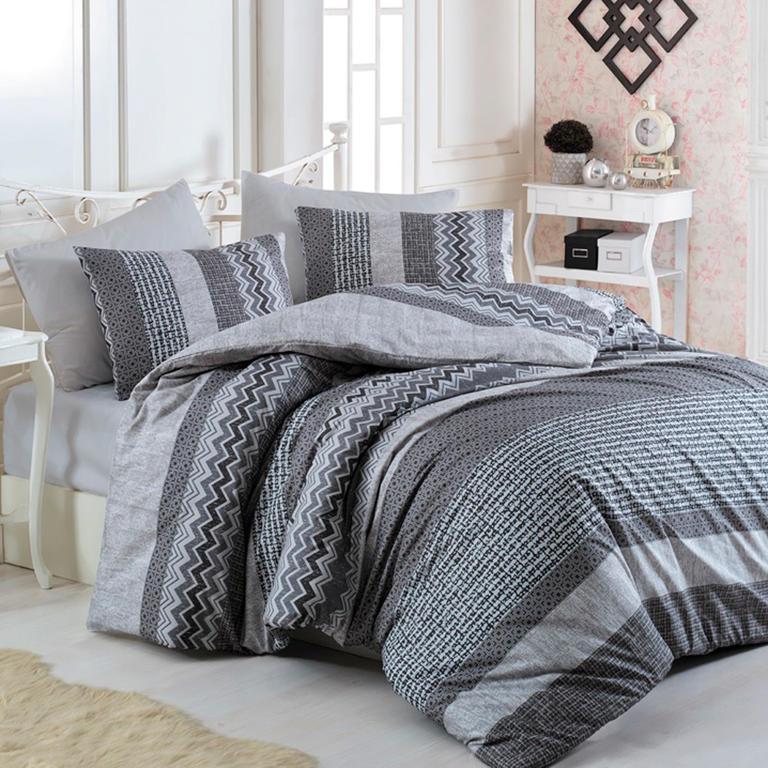 TipTrade bavlna povlečení Global šedé 140x200 70x90