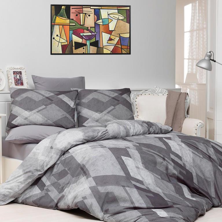TipTrade s.r.o. Bavlněné povlečení Mosaic Šedé Velikost: 140x200 + 70x90 cm