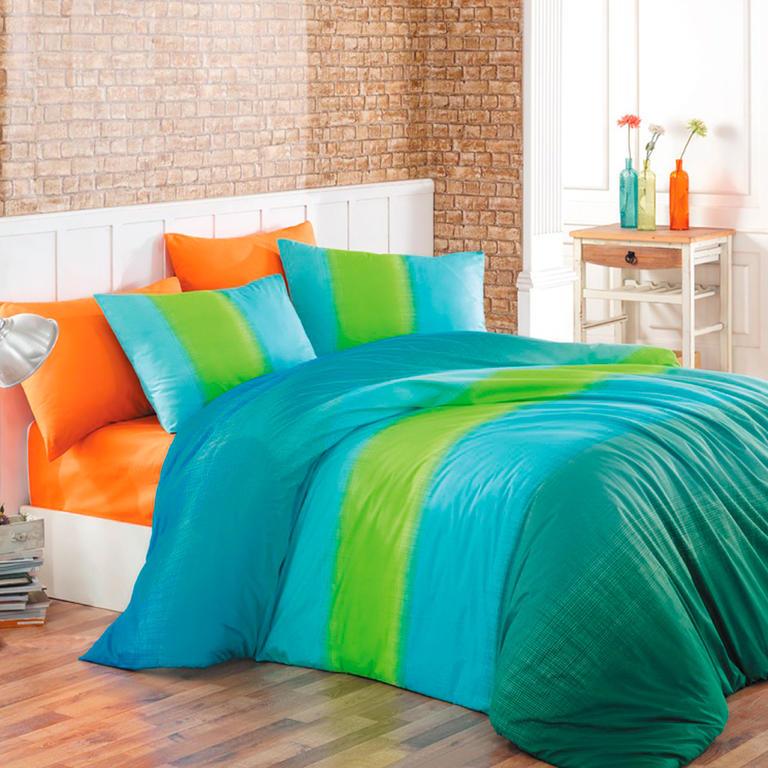 TipTrade bavlna povlečení Colorful Modré 200x220 2x 70x90