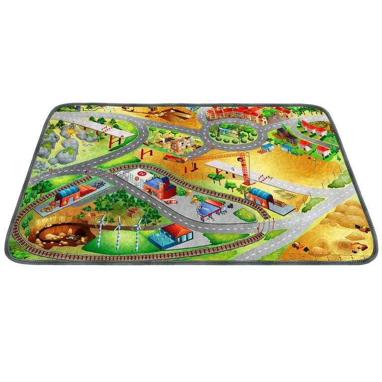 Vopi Vopi | Dětský koberec Ultra Soft Stavba - 100 x 150 cm