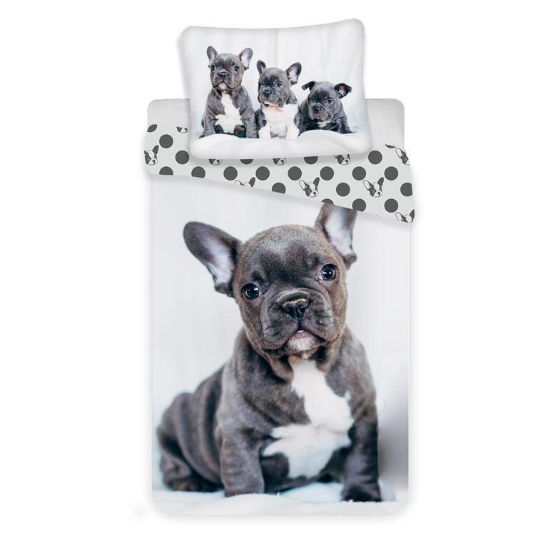 Jerry Fabrics Povlečení fototisk pes-Bulldog 140x200, 70x90 cm
