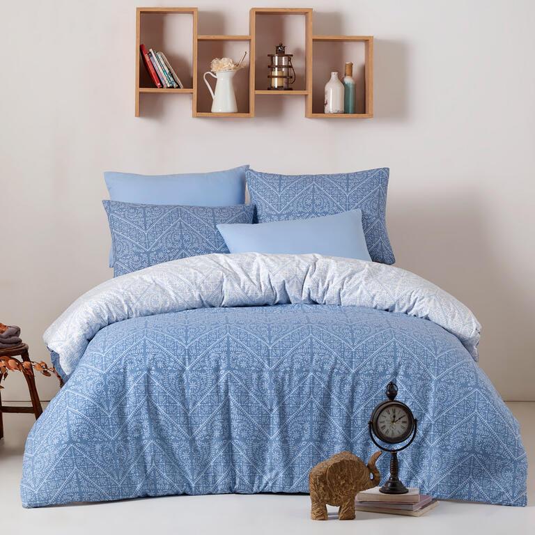BedTex bavlna povlečení Vira Blue 140x220 70x90