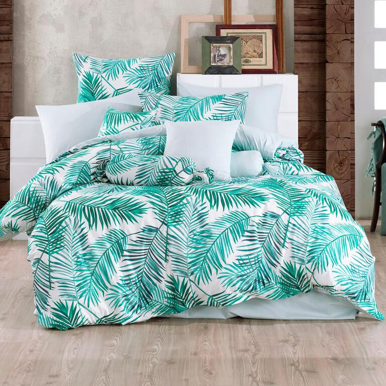 TipTrade bavlna povlečení Palms Zelené 140x220 70x90