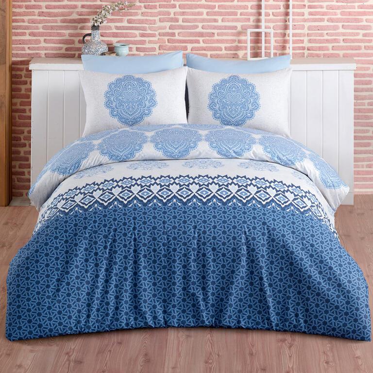 BedTex bavlna povlečení Trevi Blue 140x220 70x90