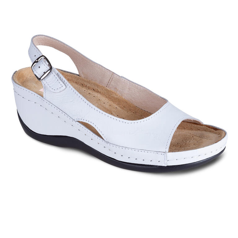 Dámské zdravotní sandály bílé vel.38