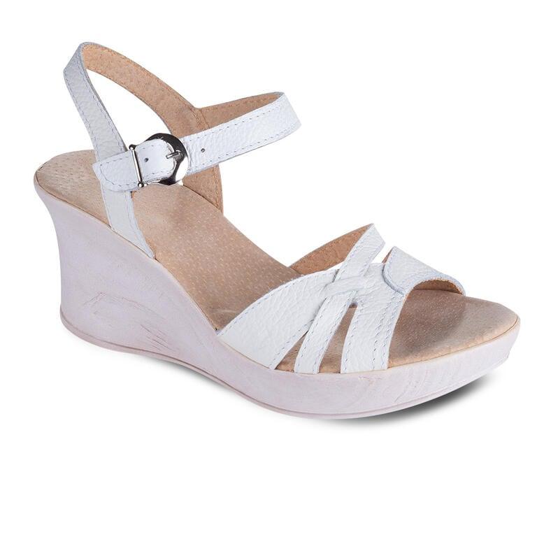 Dámské letní sandály na klínku bílé vel. 40