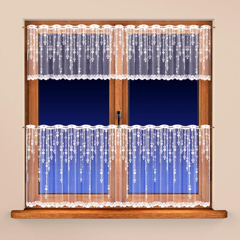 Vitrážková záclona RIA 40 x 300 + 60 x 300 cm