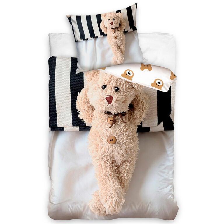 Dětské povlečení Plyšový medvídek 140 x 200 cm, 70 x 90 cm