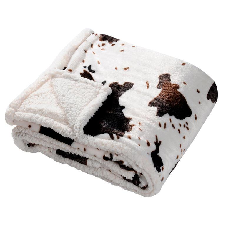 Deka z umělé kožešiny - Kráva