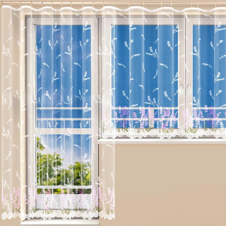 Hotová žakárová záclona MARIANA FIALOVÁ balkonový set