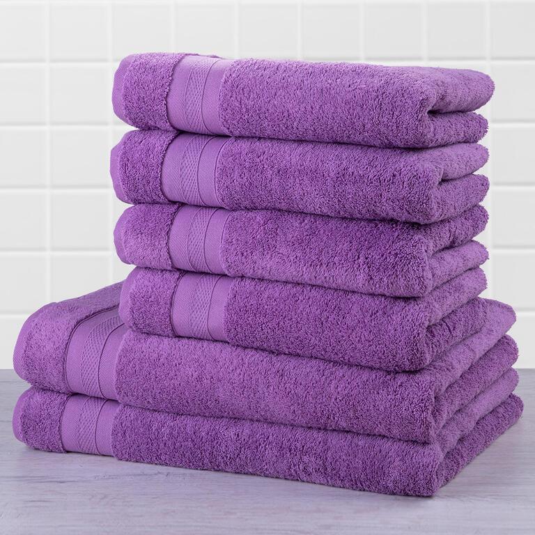 Sada froté ručníků a osušek MEXICO fialová 6 ks
