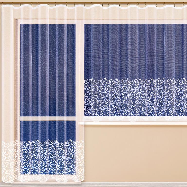Hotová žakárová záclona ELENA balkonový set