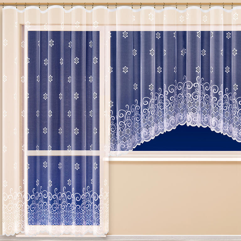 Hotová žakárová záclona MANUELA - balkonový komplet