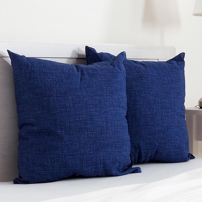 Dekorační polštářek BESSY 45 x 45 cm modrá sada 2 ks