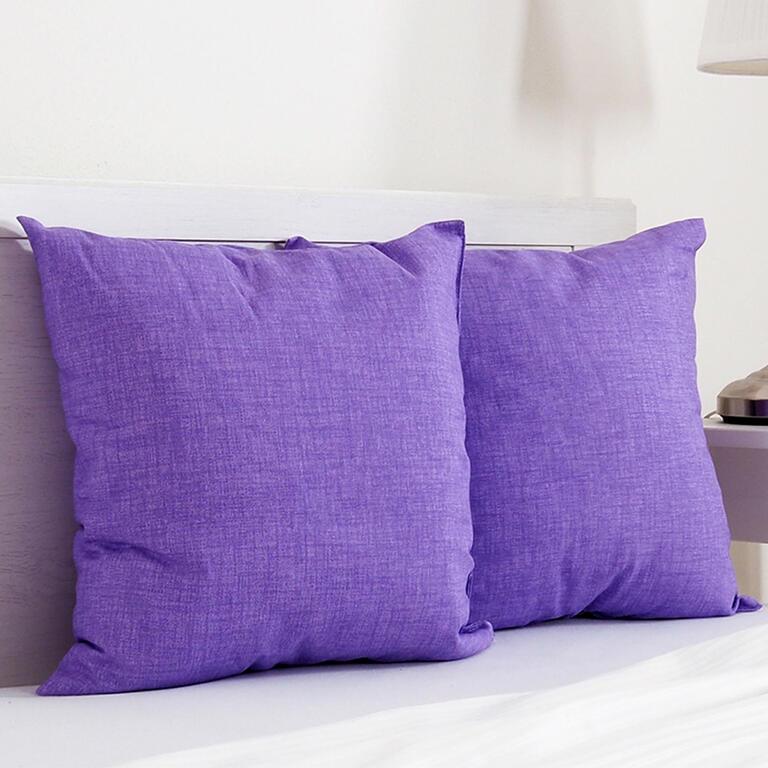 Dekorační polštářek BESSY 45 x 45 cm fialová sada 2 ks