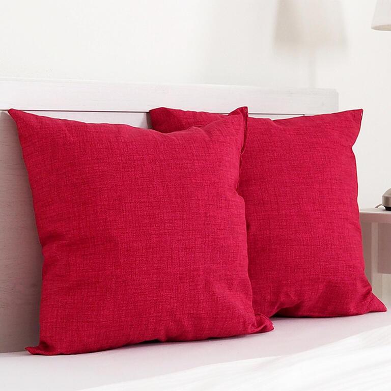 Dekorační polštářek BESSY 45 x 45 cm červená sada 2 ks