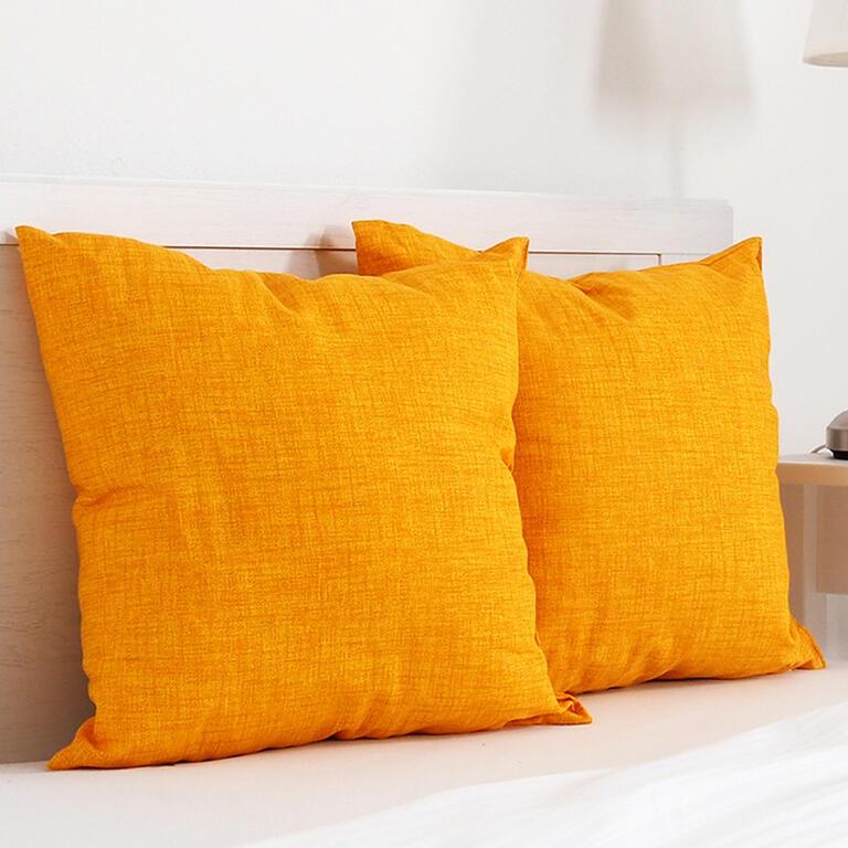 Dekorační polštářek BESSY 45 x 45 cm žlutá sada 2 ks