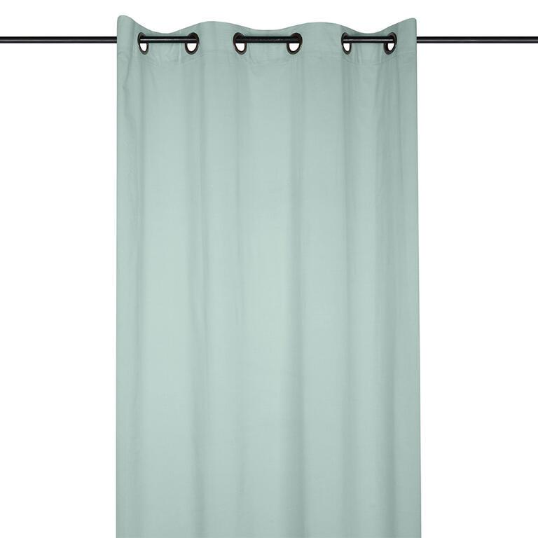 Levně Dekorační bavlněný závěs AUBE jadeit 140 x 260 cm 1 ks