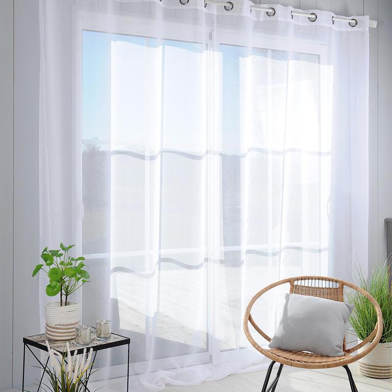 Voálová záclona na francouzské okno MONNA XXL 300 x 260 cm