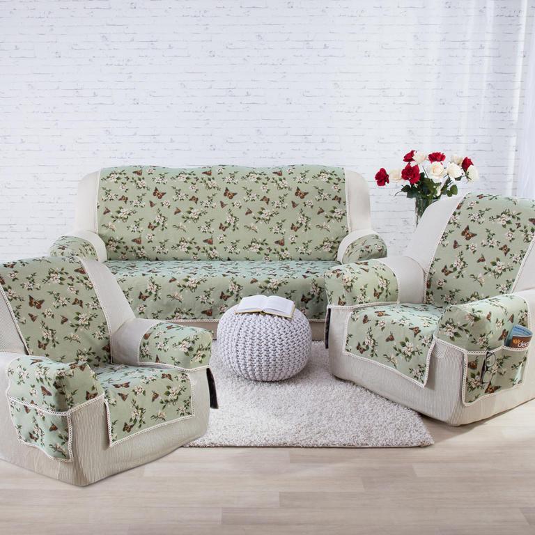 Přehozy na sedací soupravu s područkami MOTÝL křeslo - sedák 48 cm