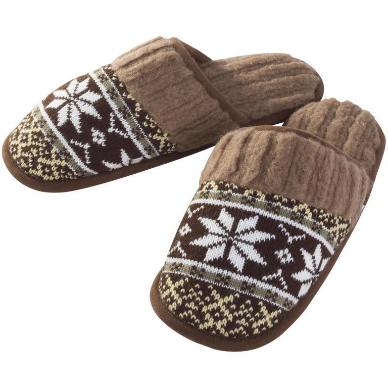 Pánské pantofle z ovčí vlny hnědé