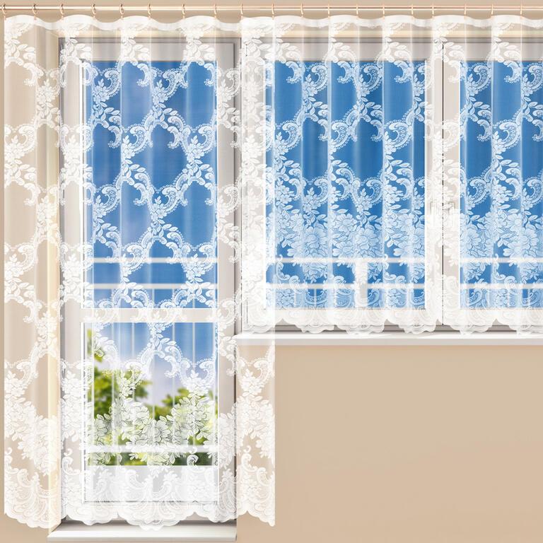 Hotová žakárová záclona HENRIETA - balkonový komplet