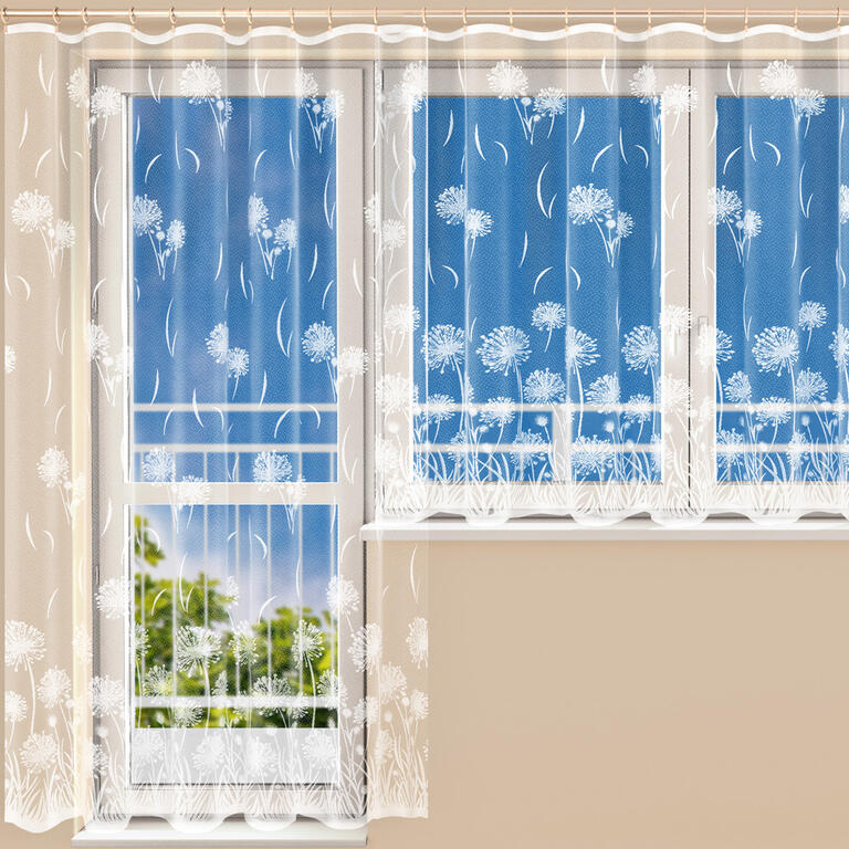 Hotová žakárová záclona MARIKA - balkonový komplet