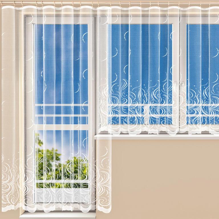Hotová žakárová záclona BELLA - balkonový komplet