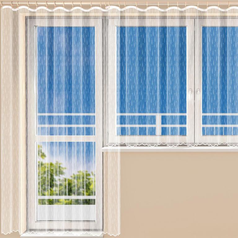 Hotová žakárová záclona MOLLY balkonový komplet