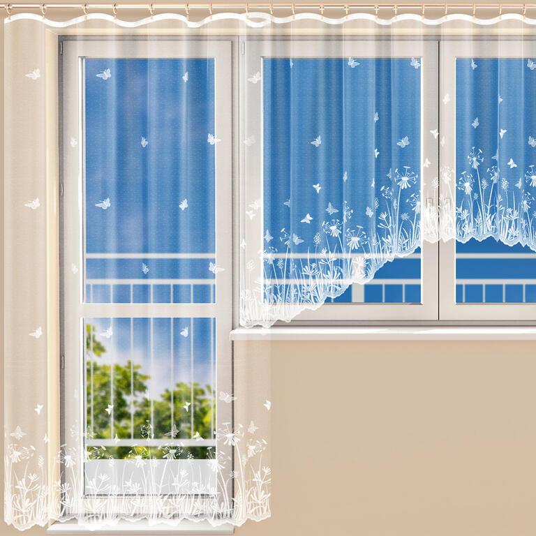 Hotová žakárová záclona RITA - balkonový komplet