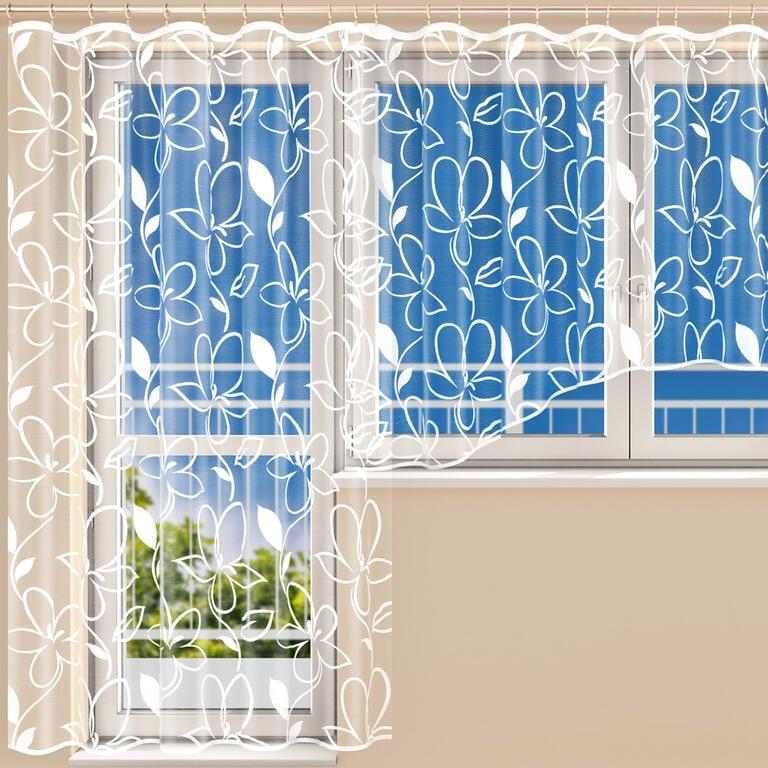 Hotová žakárová záclona TINA - balkonový komplet