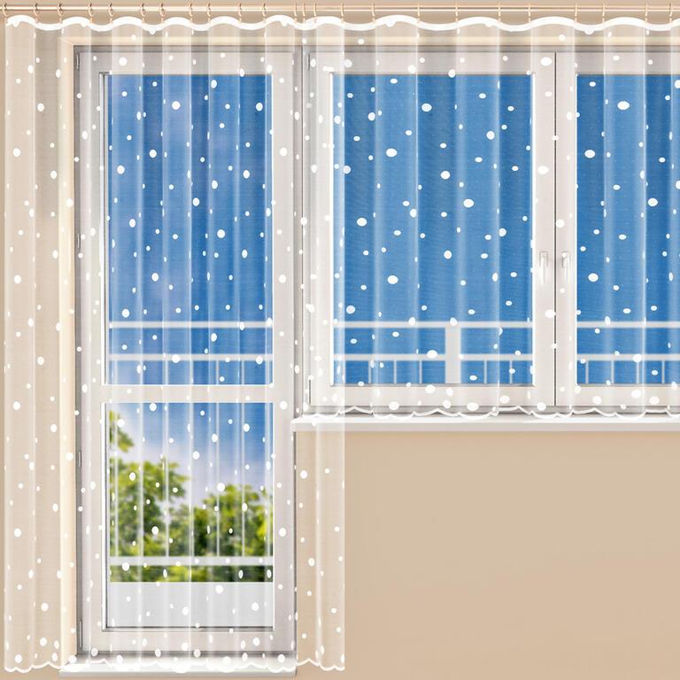 Hotová žakárová záclona NATALIE - balkonový set