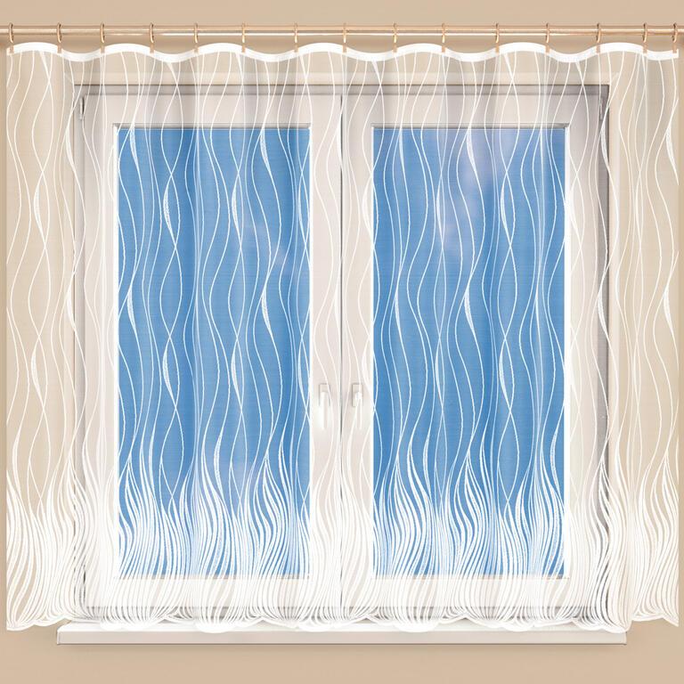 Hotová žakárová záclona KAROLÍNA 350 x 160 cm