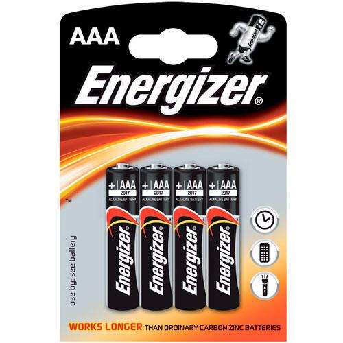 Alkalické baterie Energizer 4x AAA  - 2