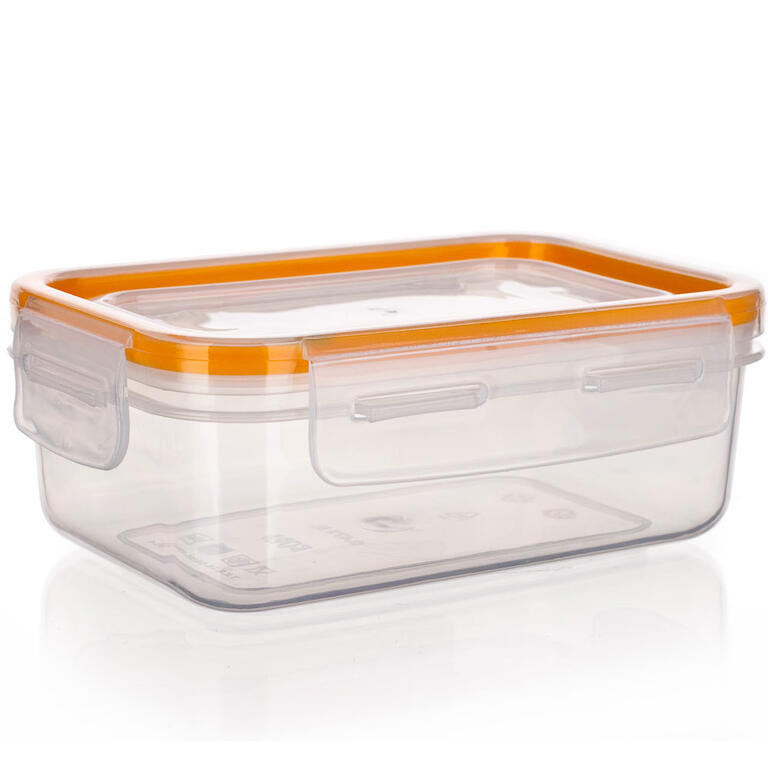 Obdélníková dóza na potraviny Super Click oranžová, BANQUET  - 2