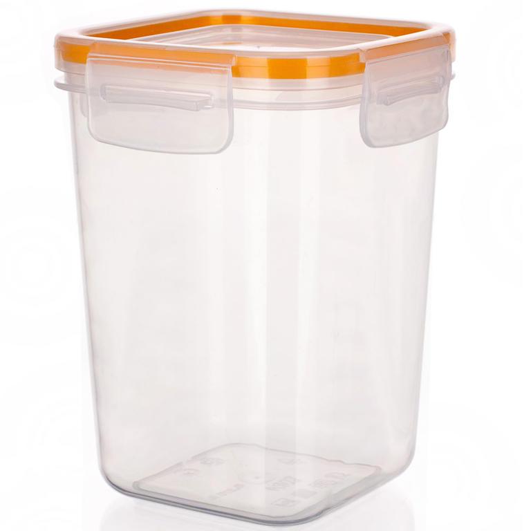 Plastová dóza na potraviny Super Click oranžová, BANQUET  - 2