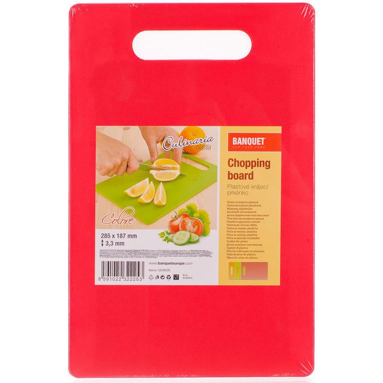 Plastové krájecí prkénko Culinaria Plastia Colore, BANQUET 24,5 x 14,4 x 0,45 cm - 2