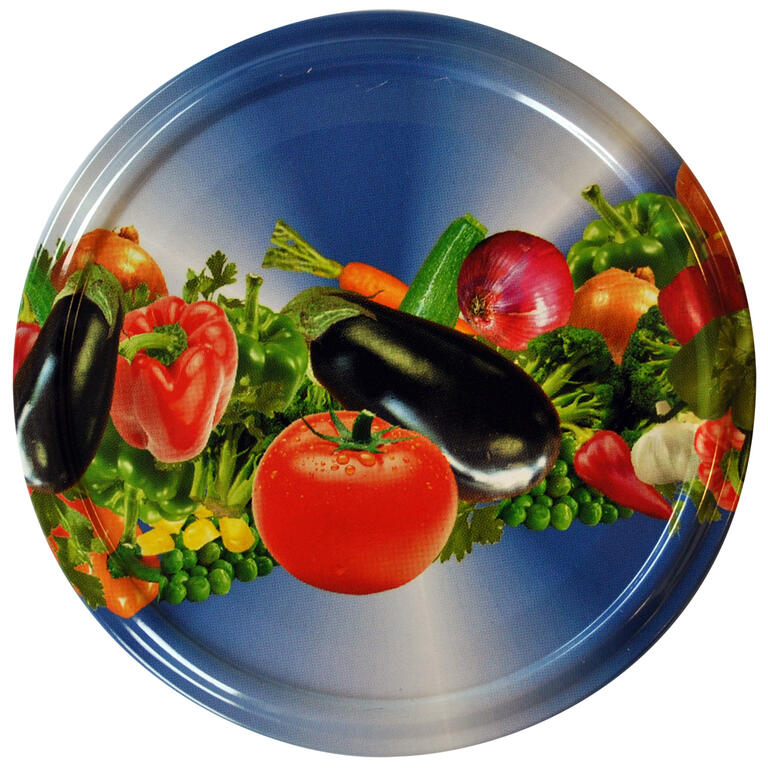Šroubovací víčka na zavařovací sklenice 10 ks zelenina  - 2