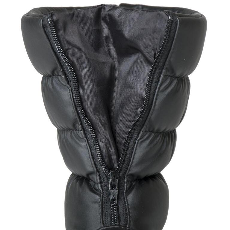 Dámské zimní boty se zipem černé  - 2