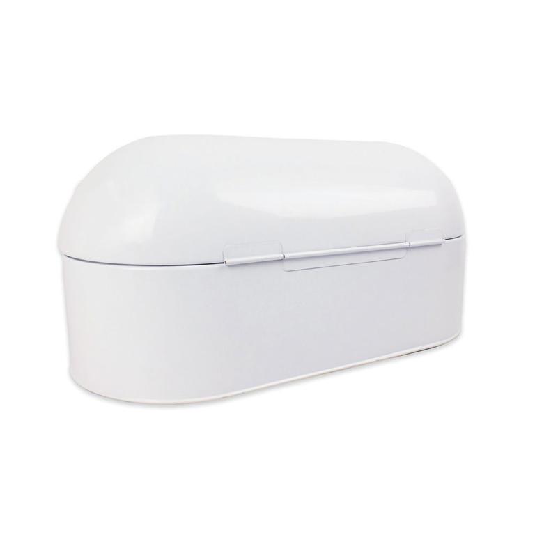 Kovový chlebník FRISCO bílý  - 2