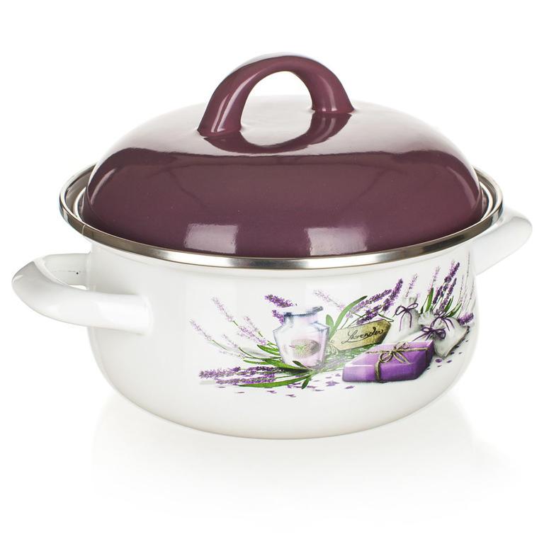 Smaltovaný kastrol Lavender, BANQUET 1,4 l - 2