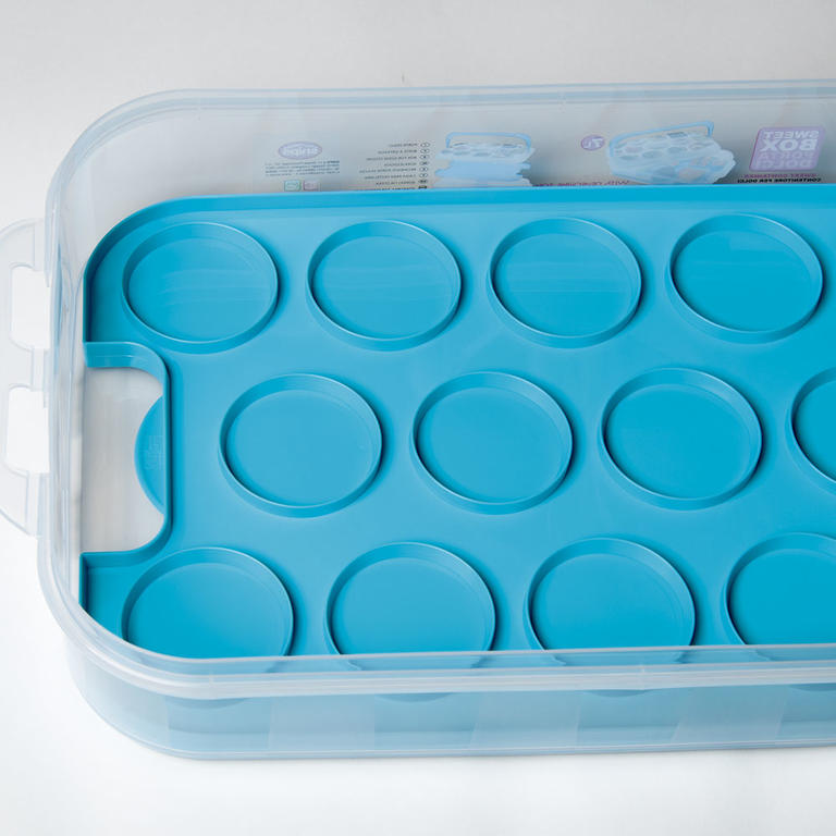 Plastový box na pečivo a cukroví růžový  - 2