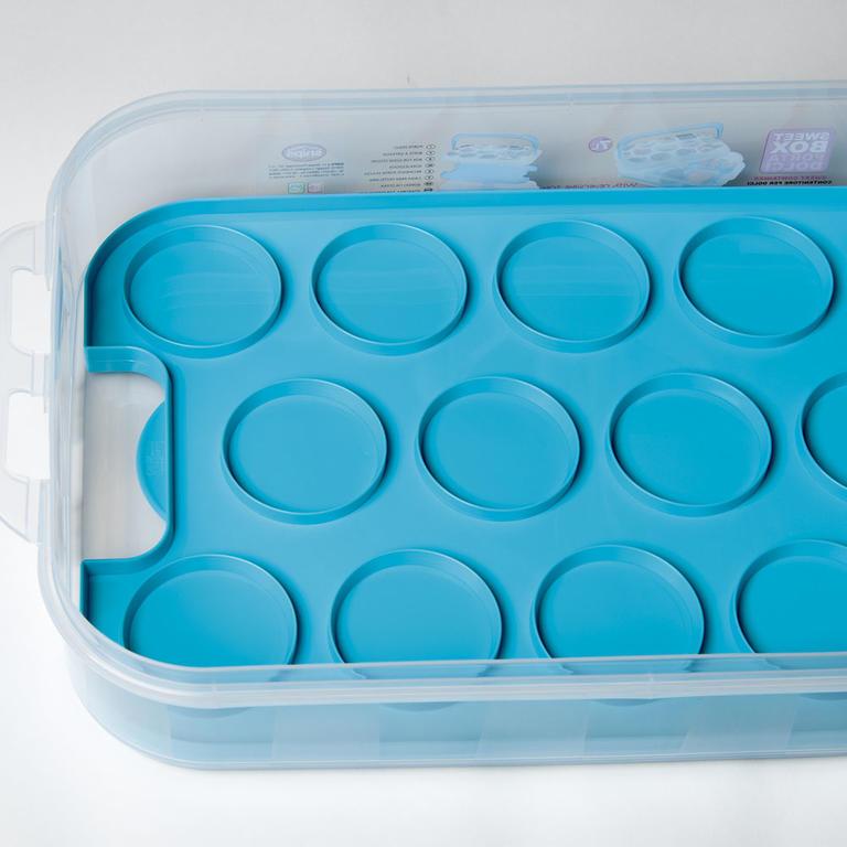 Plastový box na pečivo a cukroví modrý  - 2