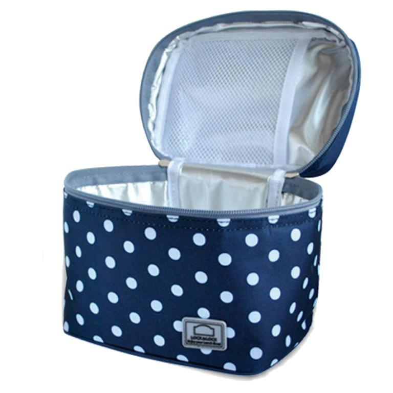 Tečkovaná taška Lunch Boxes modrá  - 2