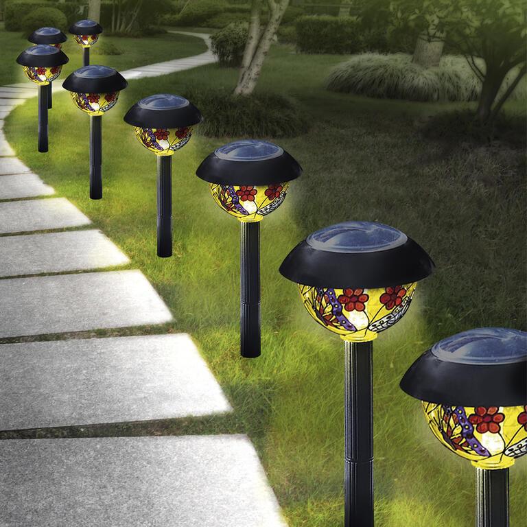 Solární lampy do zahrady 8 kusů  - 2