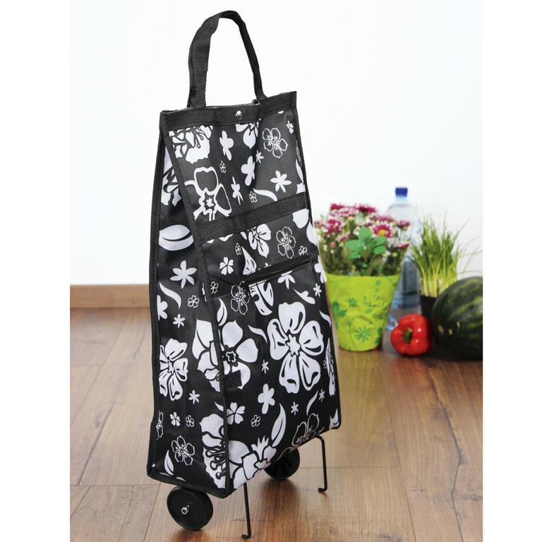 Nákupní taška na kolečkách Kytky  - 2