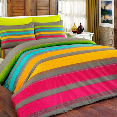 Bavlněné ložní povlečení Susan oranžové francouzská postel - 2