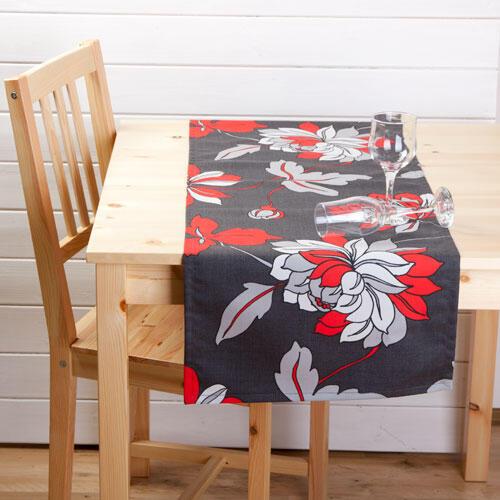 Běhoun na stůl z kolekce Moderna s květy  - 2