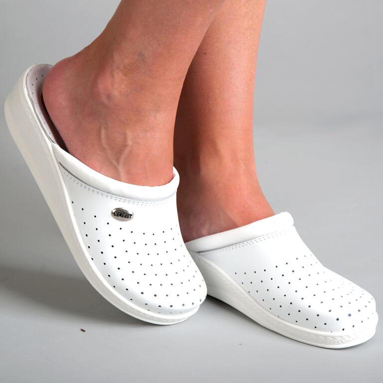 Dámské pantofle s plnou špičkou bílé vel. 41 - 2